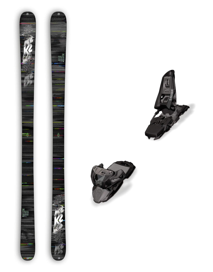 2018 K2 Press Skis + Marker Squire Bindings Package-aussieskier.com