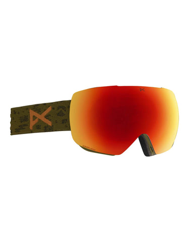 Image of Anon MiG MFI Ski Goggles w/ Integrated Facemask-Windells / Sonar Red Lens-aussieskier.com