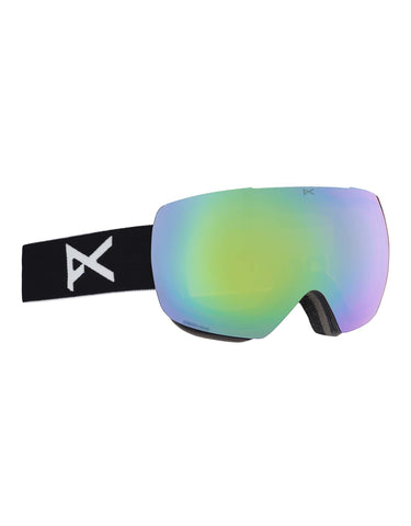 Anon MiG MFI Ski Goggles w/ Integrated Facemask-Black / Sonar Green Lens-aussieskier.com