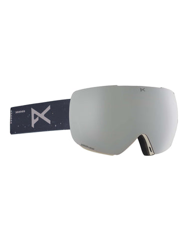 Anon MiG MFI Ski Goggles w/ Integrated Facemask-Rush / Sonar Silver Lens-aussieskier.com