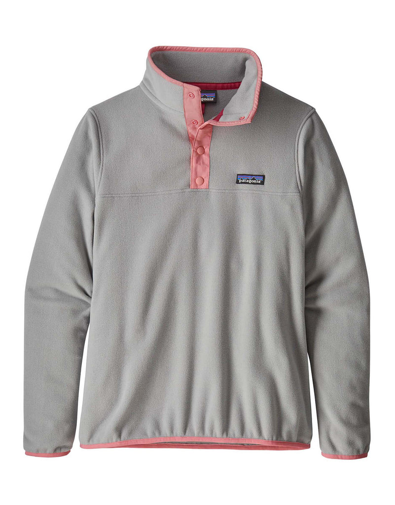 Patagonia Womens Micro D Snap-T Pullover Fleece-Small-Drifter Grey-aussieskier.com