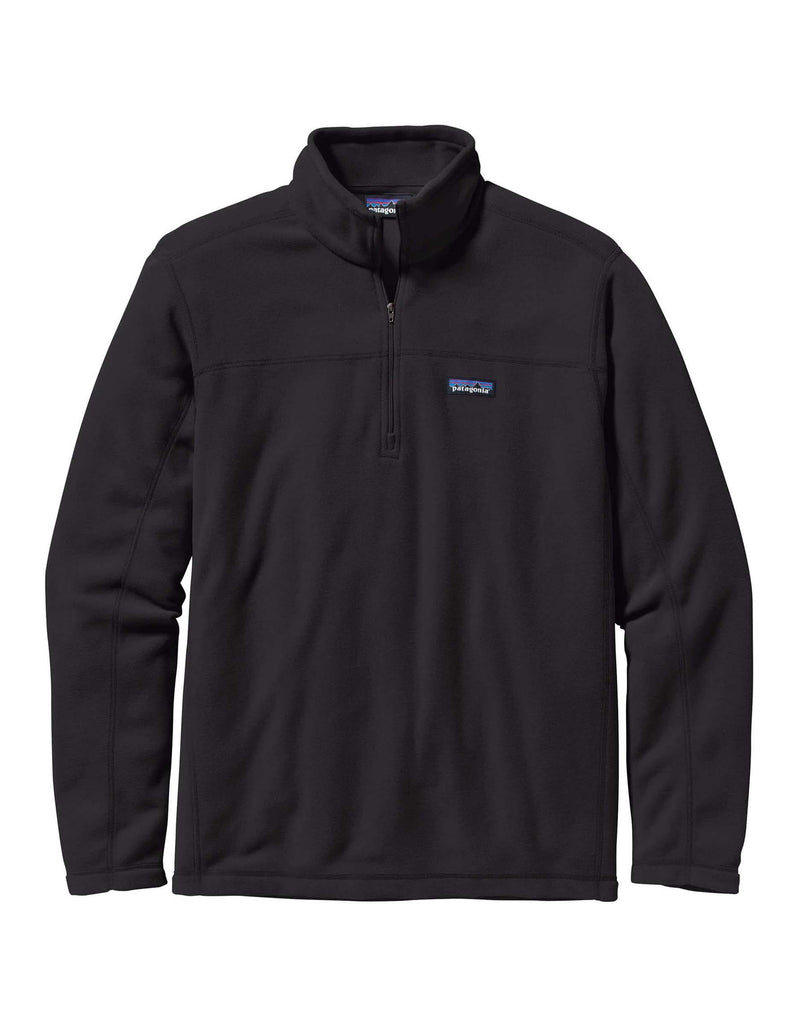 Patagonia Micro D Pullover Zip Fleece-Small-Black-aussieskier.com