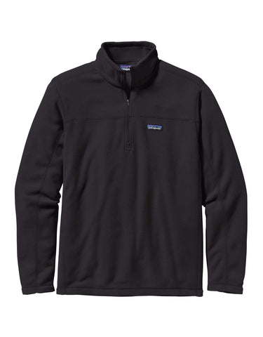 Image of Patagonia Micro D Pullover Zip Fleece-Small-Black-aussieskier.com