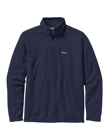 Image of Patagonia Micro D Pullover Zip Fleece-Small-Classic Navy-aussieskier.com