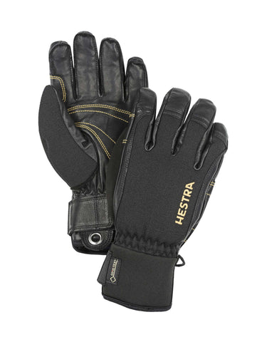 Hestra Army Leather Short GTX XCR Gloves-7-Black / Black-aussieskier.com