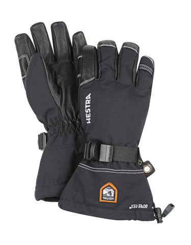 Image of Hestra Army Leather GTX XCR Gloves-7-Black / Black-aussieskier.com
