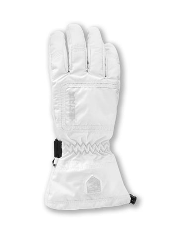 Image of Hestra Czone Powder Womens Gloves-6-Ivory / White-aussieskier.com