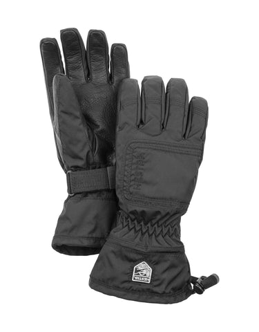 Image of Hestra Czone Powder Womens Gloves-5-Black / Black-aussieskier.com