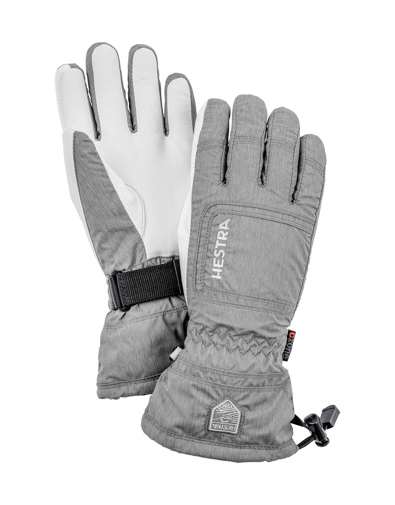 Hestra Czone Powder Womens Gloves-6-Light Grey / White-aussieskier.com