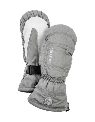 Image of Hestra Czone Powder Womens Mitten-6-Light Grey / White-aussieskier.com