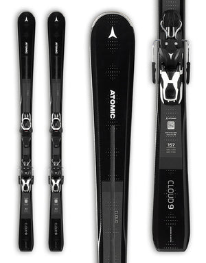 Atomic Cloud Nine Womens Skis + Lithium 10 Bindings 2020-143cm-aussieskier.com
