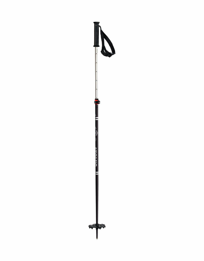 Atomic Backland FR Adjustable Ski Poles-Black / White-aussieskier.com