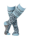 Rojo Animal Splash Womens Ski Socks-38 - 41-Crystal Blue-aussieskier.com