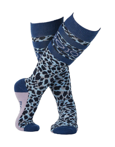 Rojo Animal Splash Womens Ski Socks-38 - 41-True Navy-aussieskier.com