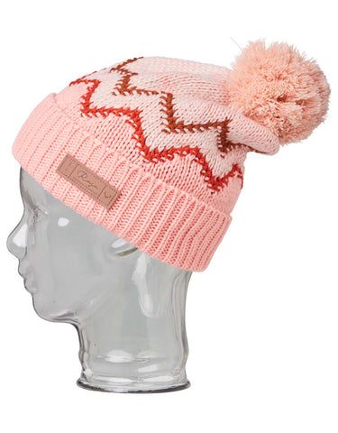 Image of Rojo Base Camp Womens Beanie-Cameo Rose-aussieskier.com