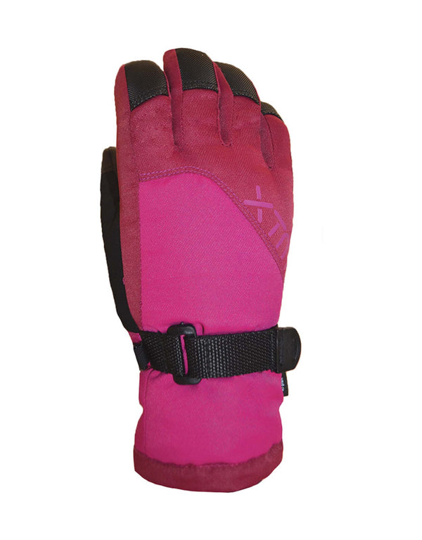 XTM Zoom Kids Ski Gloves-Large-Berry Pink-aussieskier.com