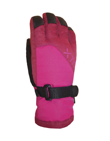 Image of XTM Zoom Kids Ski Gloves-Large-Berry Pink-aussieskier.com
