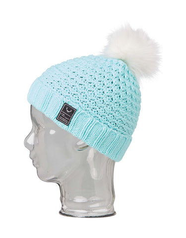 Image of Rojo Bobble Girls Beanie-Canal Blue-aussieskier.com
