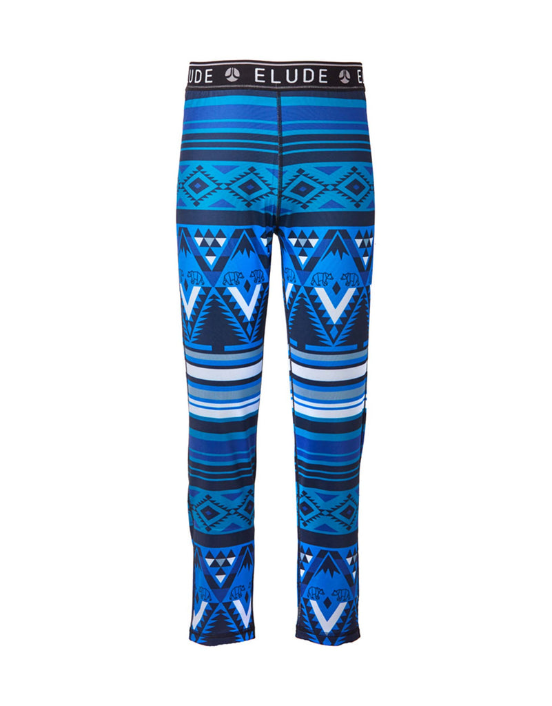 Elude Boys 7/8 Thermal Pants-4-Mountain Aztec Solidate Blue-aussieskier.com