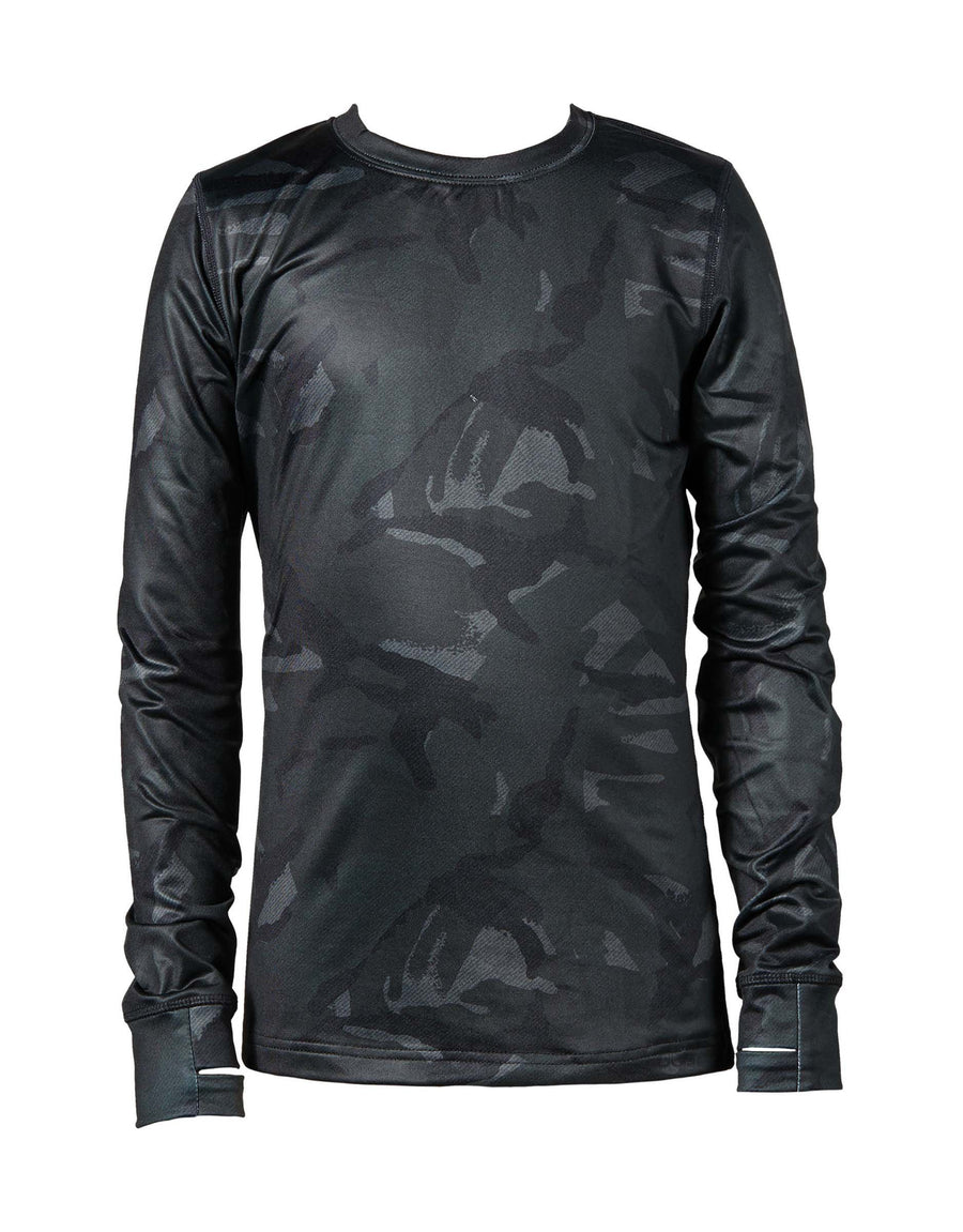 Elude Boys Thermal Crew Neck Top-4-Camo-aussieskier.com