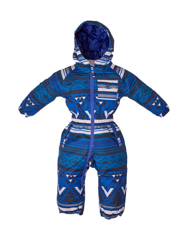 Image of Elude Boys Onesie Mini-00-Mountain Aztec Solidate Blue-aussieskier.com