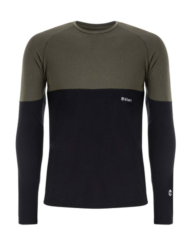 Image of Le Bent Vert 200 Raglan Base Layer-Medium-Forest Green-aussieskier.com