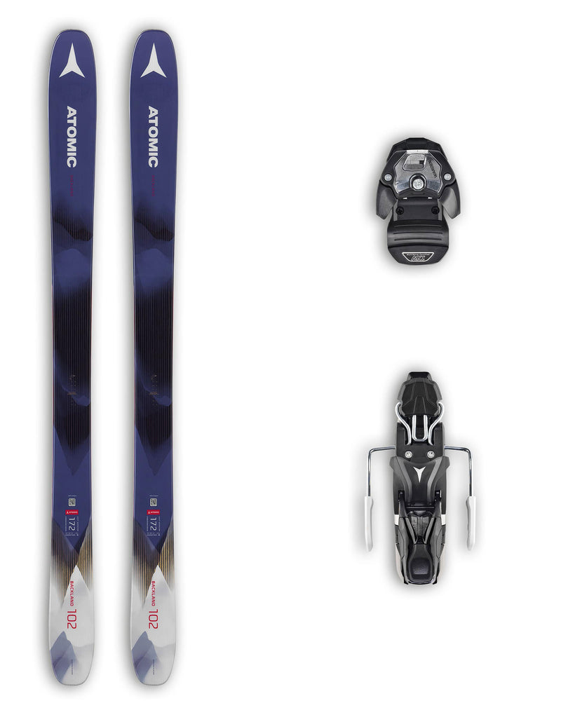 Atomic Backland 102 FR Womens Skis + Atomic Warden 11 MNC Bindings Package 2020-156cm-aussieskier.com