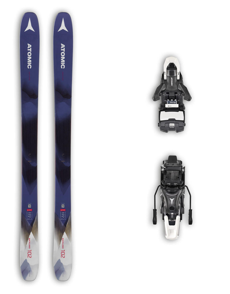 Atomic Backland 102 FR Womens Skis + Atomic Shift Bindings Package 2020