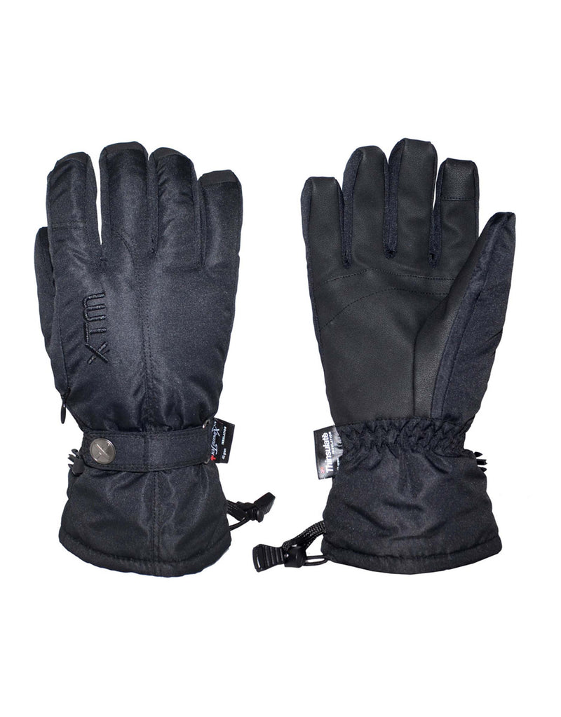 XTM Sapporo Womens Ski Gloves-Large-Black-aussieskier.com