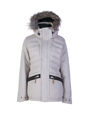 Image of Rojo Deluxe Womens Ski Jacket-12-Alloy-aussieskier.com