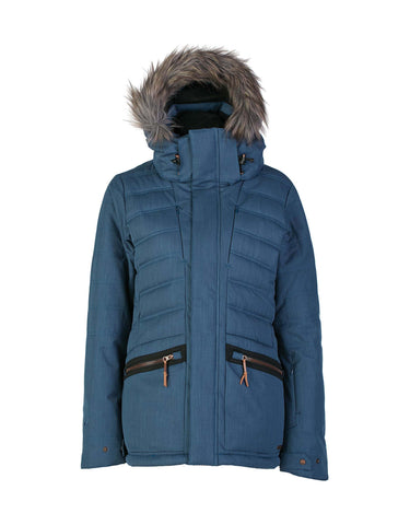 Image of Rojo Deluxe Womens Ski Jacket-8-Wing Teal-aussieskier.com