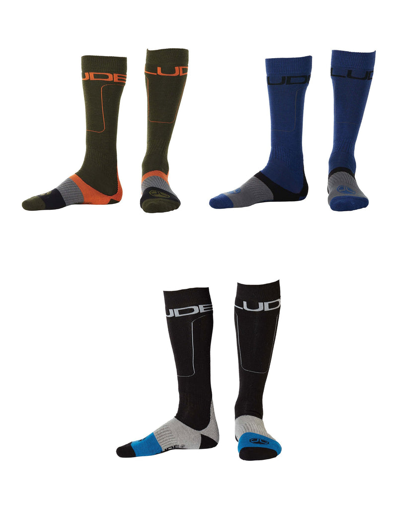 Elude All Terrain Ski Socks 3 Pack Mixed-42 - 44-aussieskier.com