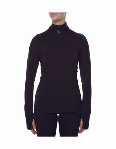 Vigilante Womens Far North 1/4 Zip Thermal Top-aussieskier.com