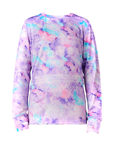 Rojo Girls Thermal Crew Neck Top-4-Sarek Print-aussieskier.com