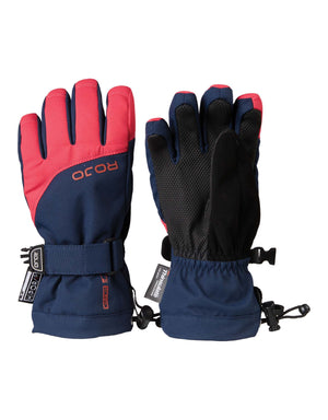 Rojo Maximise Kids Gloves-4-Virtual Pink-aussieskier.com