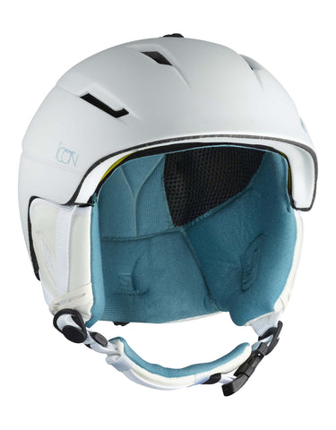 Image of Salomon Icon 2 MIPS Womens Ski Helmet-Small-White-aussieskier.com