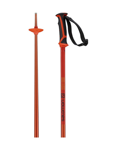 Image of Salomon Arctic Ski Poles-110cm-Orange-aussieskier.com
