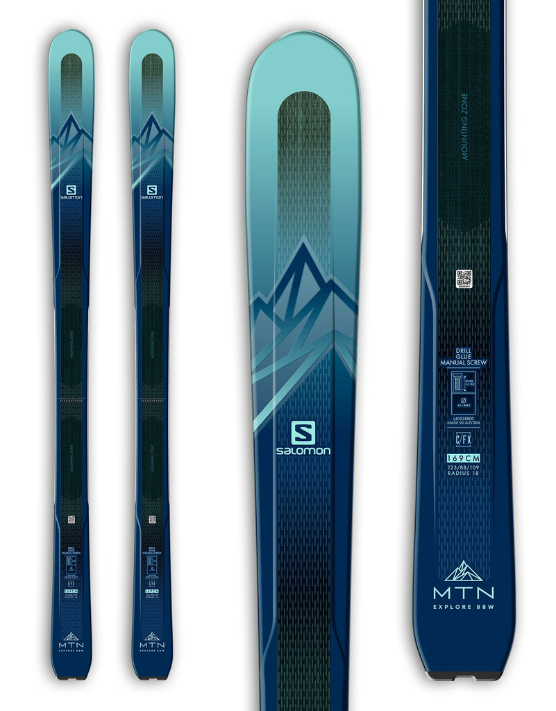 Salomon MTN Explore 88 Womens Alpine Touring Skis 2020-153cm-aussieskier.com