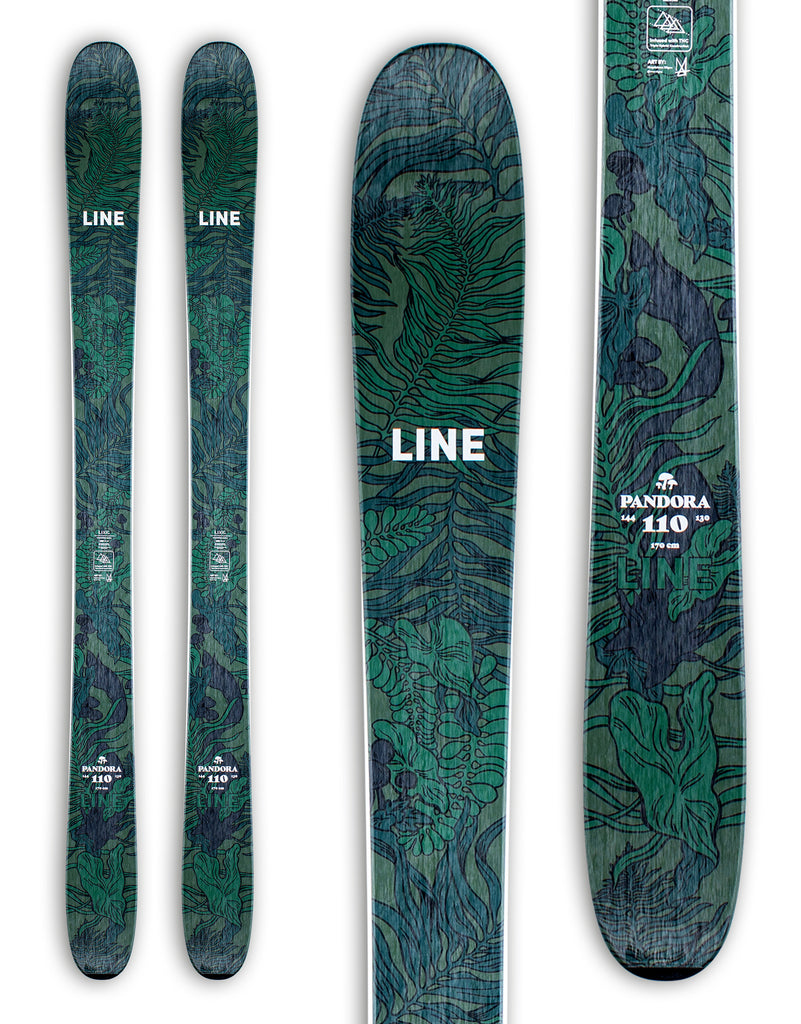 Line Pandora 110 Womens Powder Skis 2021