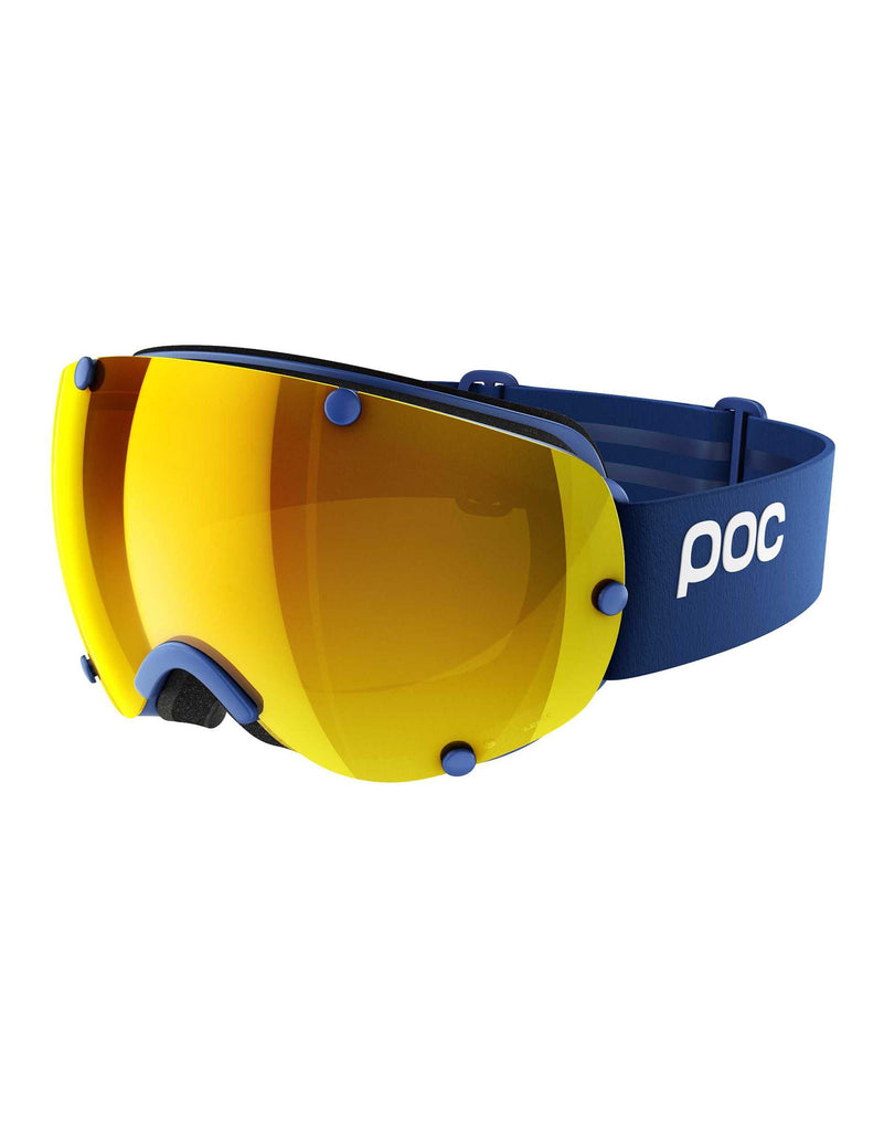 POC Lobes Clarity Ski Goggles-Basketane Blue / Spektris Orange Lens-aussieskier.com