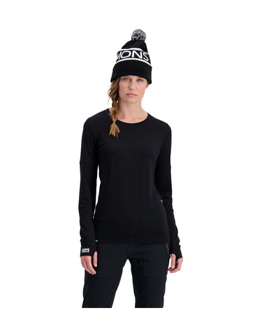 Image of Mons Royale Womens Cornice Long Sleeve Base Layer-aussieskier.com
