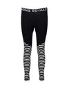 Mons Royale Womens Christy Legging Base Layer-X Small-Black / Thick Stripe-aussieskier.com