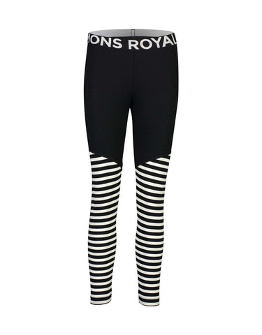 Image of Mons Royale Womens Christy Legging Base Layer-Small-Black / Thick Stripe-aussieskier.com