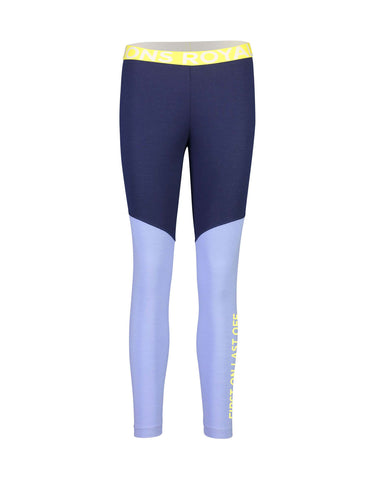Image of Mons Royale Womens Christy Legging Base Layer-Small-Navy / Blue Fog-aussieskier.com