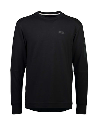 Image of Mons Royale Mens The Harkin Jersey Crew-Small-Black-aussieskier.com