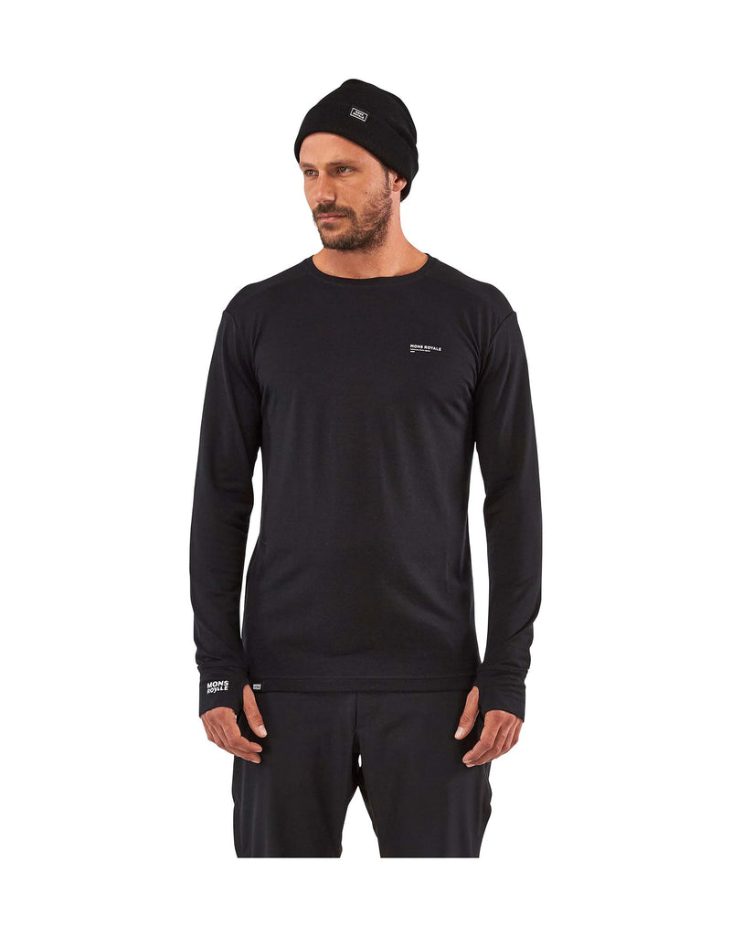 Mons Royale Mens Alta Tech Long Sleeve Crew Base Layer-aussieskier.com