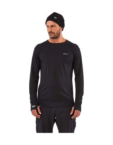 Image of Mons Royale Mens Alta Tech Long Sleeve Crew Base Layer-aussieskier.com