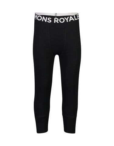 Image of Mons Royale Mens Shaun-off 3/4 Legging Base Layer-Small-Black-aussieskier.com