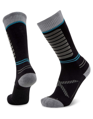 Le Bent Little Feet Kids Ski Socks-Small-Black-aussieskier.com