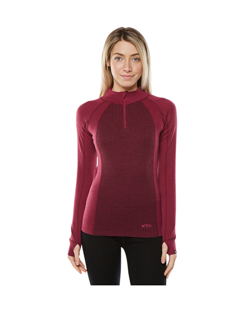 XTM Merino Womens Zip Neck 230 Thermal Top